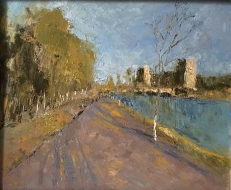 黄昏前的运河