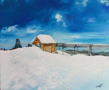 《玉龙雪山上的小屋》