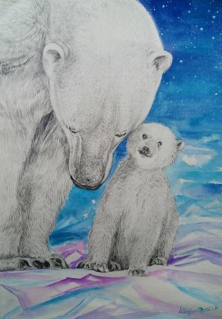 《北极熊·母爱》