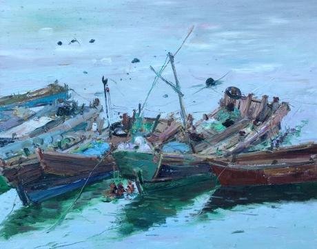 青山村的渔船