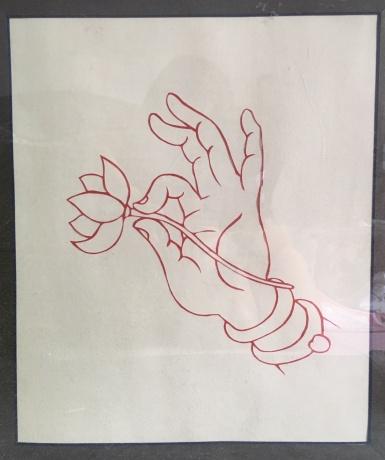 剪纸《佛手系列——拈花》