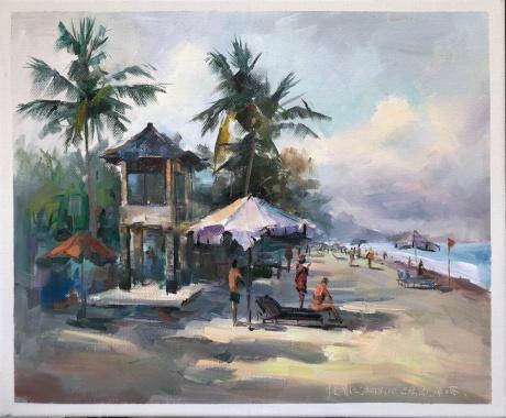 巴厘岛的海滩