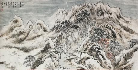 深溪难受雪,冻山也流云