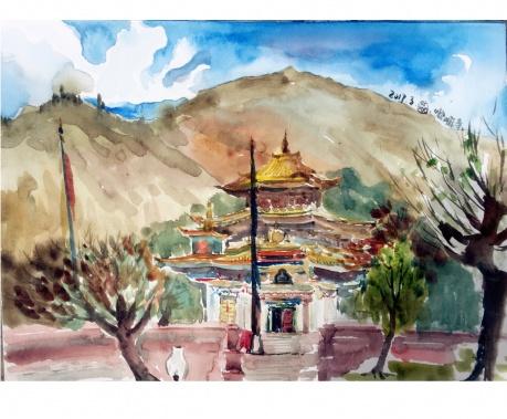 山脚下的喇嘛庙