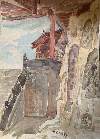 石窟寺系列-大佛壁前仰望的天空