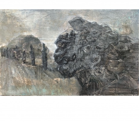 《巩义石雕—掉落人间的精灵系列之4》