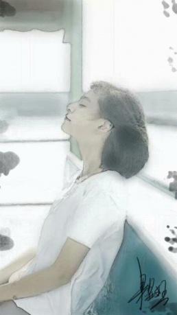 作品《少女》作者:果酱女王-俞果