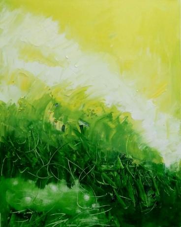 油画《秋天的蟋蟀声》作者:果酱女王-俞果