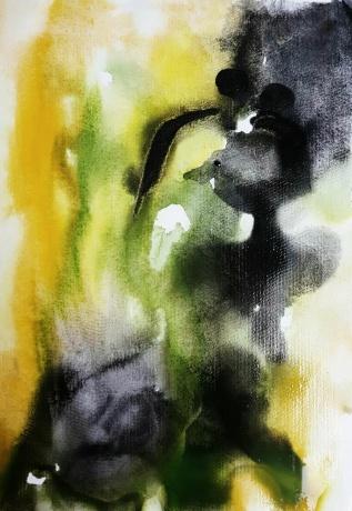 水彩《天使之吻》作者:果酱女王-俞果