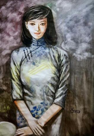 水彩《陈旧的记忆》作者:果酱女王-俞果