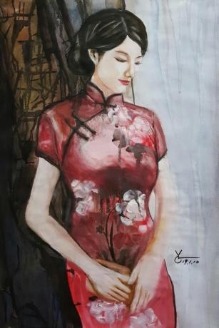 水彩《记忆》作者:果酱女王-俞果