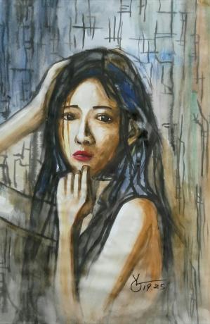 水彩《岁月的风》作者:果酱女王-俞果