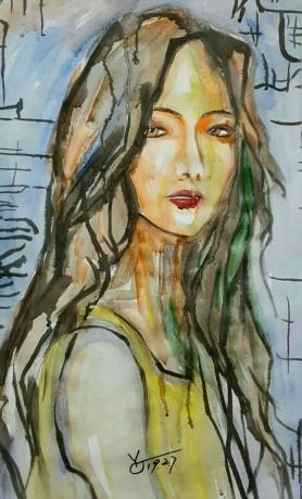 水彩《老旧的故事》作者:果酱女王-俞果
