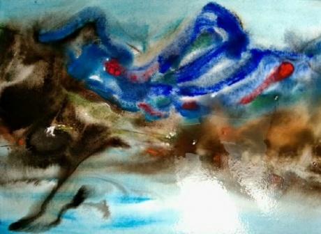 水彩《景色是种内心》 作者:果酱女王-俞果