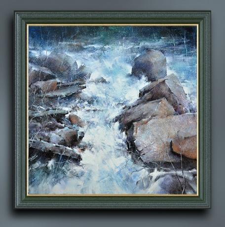 山色春寒淡 溪流宿雨通