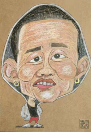 吴骏逸肖像漫画原创作品