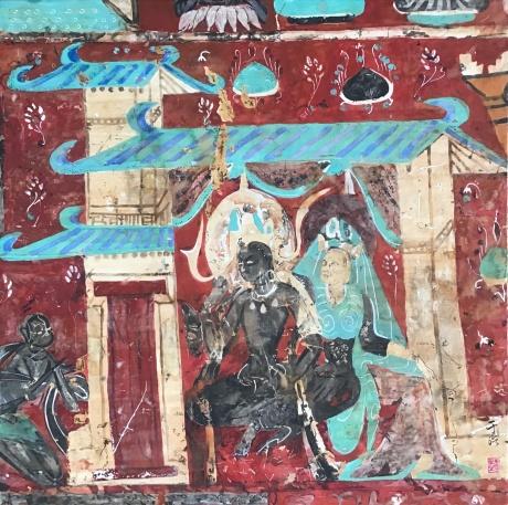 九色鹿王图壁画临摹(二)