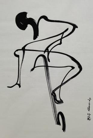 冯五洲抽象人物画物事人非系列