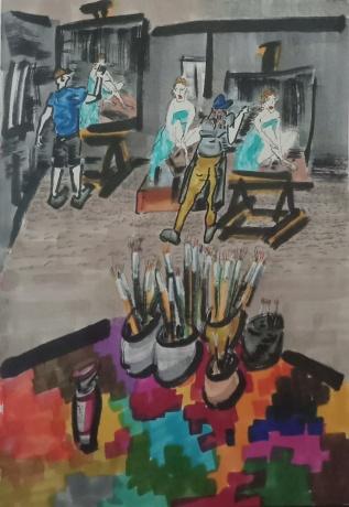 《记忆中的画室》2